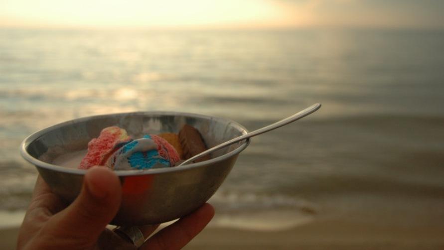 Тарелка мороженого