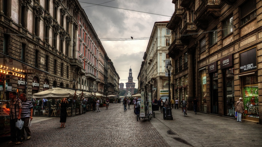 Улицы Милана.