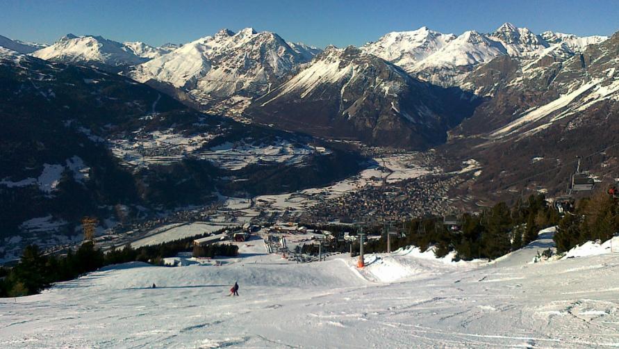 Спуск для лыжников.