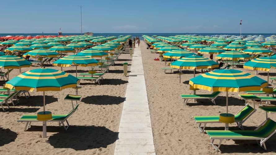 Новый пляж на побережье Адриатического моря