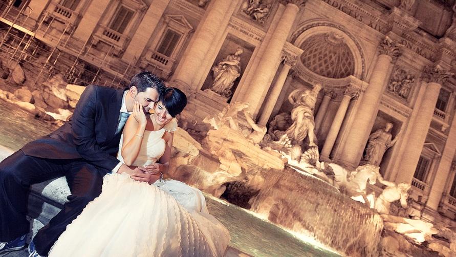 Свадьба у фонтана