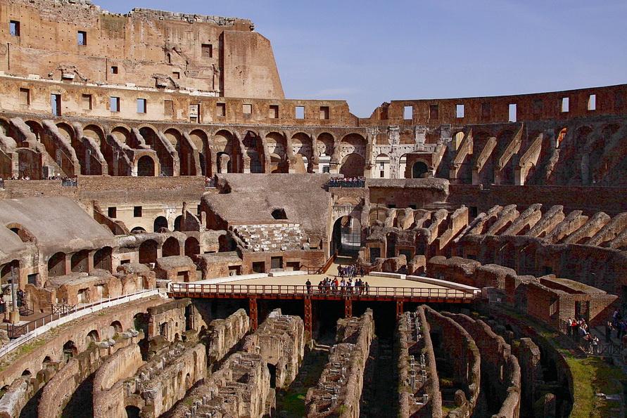 Что находится внутри Колизея?