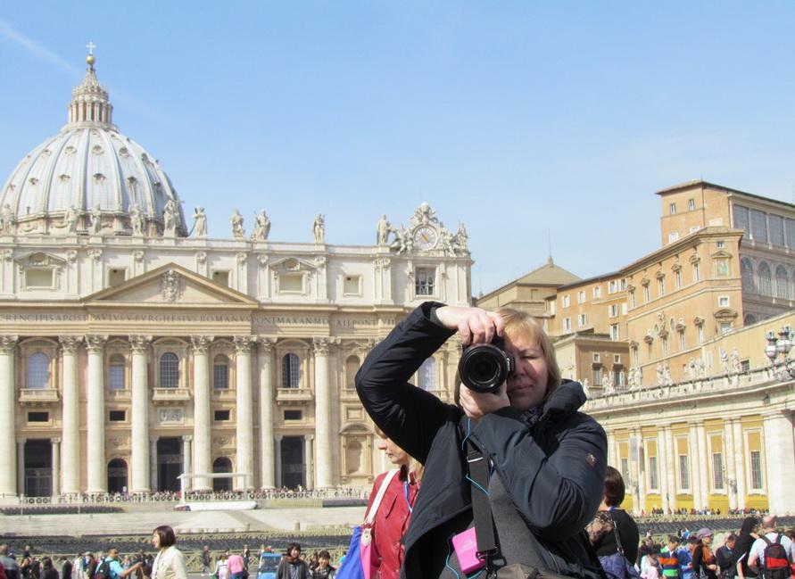 Фотографирую на Площади Святого Петра.